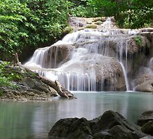 Erawan Waterfall, Kanchanaburi, Thailand by Martinovi