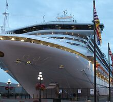 Now that is a big ship..... by DonnaMoore