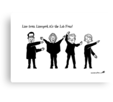 Live from Liverpool, the Lab Four! Canvas Print