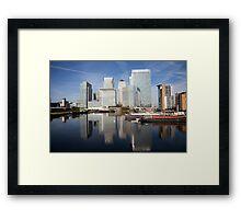 Canary Wharf Skyline Framed Print