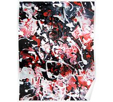 Abstract Splatter Painting Poster