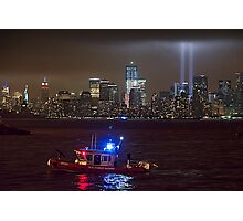 9/11 tribute of lights Photographic Print