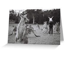 Le lapin et le kangourou Greeting Card
