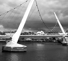 Peace Bridge, Derry, N. Ireland by Agnes McGuinness