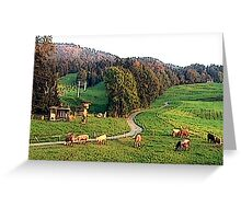"""""""Grazing In The Alps - Koblach, Austria"""" Greeting Card"""