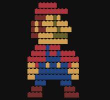 8-bit brick mario  Kids Clothes