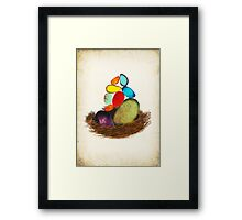 My Colorful Bird Babies Framed Print