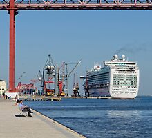 cruise ship Ventura, Port of Lisbon, Portugal by Andrew Jones