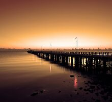 Shorncliffe Jetty at sunrise. Brisbane, Queensland, Australia. (3) by Ralph de Zilva