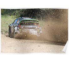Ken Block, WRC Rally, Coffs Harbour, NSW, Australia 2011 Poster