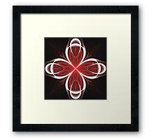 Calla Abstract Fractal Design V2 Framed Print
