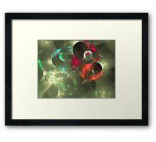 Cosmic Clutter Abstract Fractal Artwork Framed Print