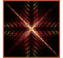 Crux Abstract Fractal Artwork Photographic Print