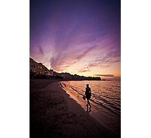 Sunset in Trapani bay Photographic Print