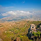 View from erice mountain towards Trapani by mosinski