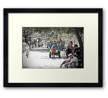 Cidomo horse carts of the Gili Islands 2.  Framed Print