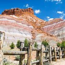 Tecnicolor Cliffs at Pariah Movie Set, Utah by Kenneth Keifer