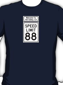 Hill Valley Speed Limit T-Shirt