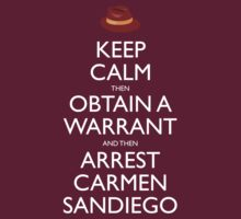 Carmen Sandiego Keep Calm Tribute by Christopher Bunye