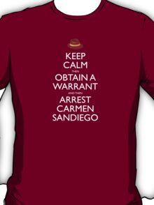 Carmen Sandiego Keep Calm Tribute T-Shirt