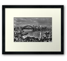 A Study In Black & White - Sydney Australia - The HDR Experience Framed Print