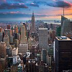 Big Apple Skyline by Inge Johnsson