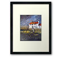 Moorland Cottage Framed Print
