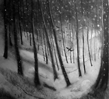 woodland sketch 2 by vickymount