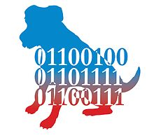 dog binary code jack russell design by Veera Pfaffli
