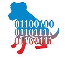 dog binary code jack russell design by Veera Pfaffli