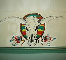 Native Cow Skull Dream Weave by bteemoore