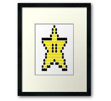 Mario Star Item Framed Print
