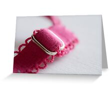 Pink Bra - Breast Cancer Awareness month Greeting Card