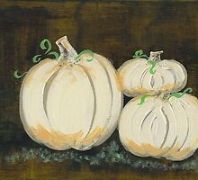 White Pumpkins II by Tara  Henry
