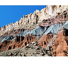 The Waterpocket Fold, Capitol Reef NP, Utah, USA Photographic Print