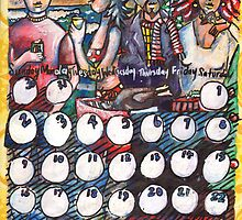 December 2012 Calendar for Doodles Anonymous by Penny Hetherington