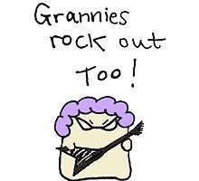Granny Hamster rocks out by DoodleDesigns
