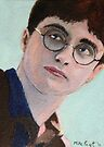 Miniature 'Harry Potter' ACEO card by Mike Paget