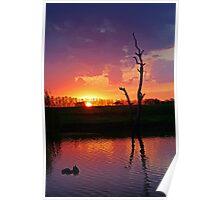 Elmore Sunset Poster