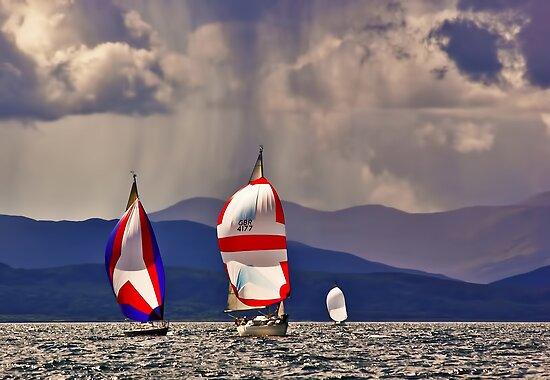 Sailing off Mull by David Alexander Elder