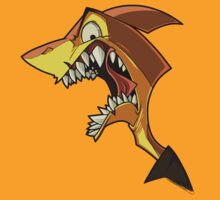 Angry orange shark with shading by Enikő Tóth