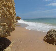 """Atlantic End""  West Coast of Albufeira, Portugal by Anita  Fletcher"