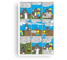 "Rick the chick  ""THE MAGIC SHELL (ITALIANO) parte 9"" Canvas Print"