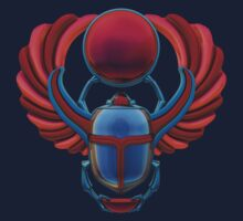 Colorful Egyptian Scarab by Packrat