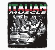 Italian muscle motorcycle T-shirt #2 by Steve Crompton