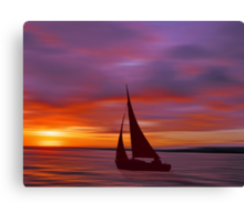 Sailing off into the Sun Canvas Print