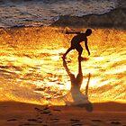 Shadow play in  the golden sunshine - Juego de sombra en la luz de oro del sol by Bernhard Matejka