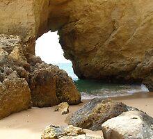 """""""Ocean Door""""  West Coast of Albufeira, Portugal by Anita  Fletcher"""