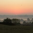 Misty morning sunrise 3, England by LisaRoberts