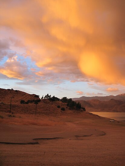 Sand, Sunset and Lake Isabella by Corri Gryting Gutzman